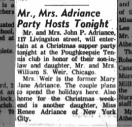 Party for MJA WSW Marriage 24 Dec 1961