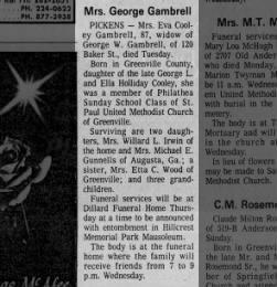 Eva Cooley obit
