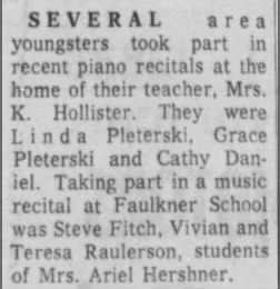 1966 Ariel's piano students