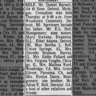 Daniel Barnett Relf Obituary