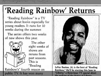 'Reading Rainbow' Returns