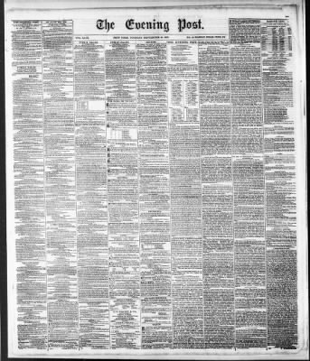 The Evening Post from New York, New York · Page 1