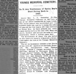Young's Cemetery incorporators 1900 Part I