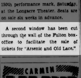 Arsenic and Old Lace - cute article
