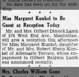 reception margaret 3/31/1930