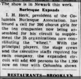 When did Herk become president of Columbia?? 1931?