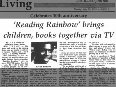 Reading Rainbow brings TV and books together