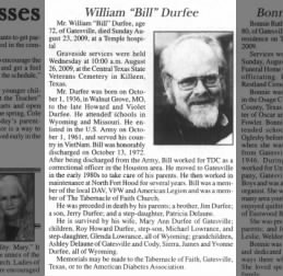 William Lewis Durfee Obituary