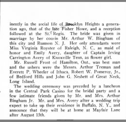 Edward Carrington Avery and Elizabeth Amelia Boorum wedding annoouncement (2)
