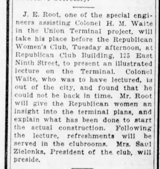 1929_09_22_Cinti Enquirer_Page 2_J E Root Speaks to Republican Womens Club