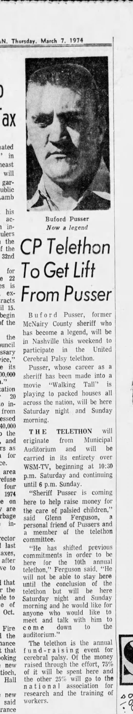 1974-03-07 TENNESSEAN CP Telethon To Get Lift From Pusser_32