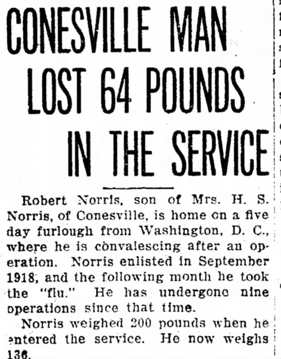 Conesville Man Lost 64 Pounds in the Service