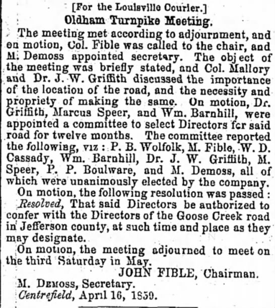 The Louisville Daily Courier 21 April 1859