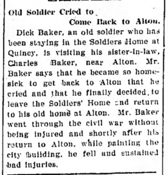 Charles Baker 24 Jul 1907