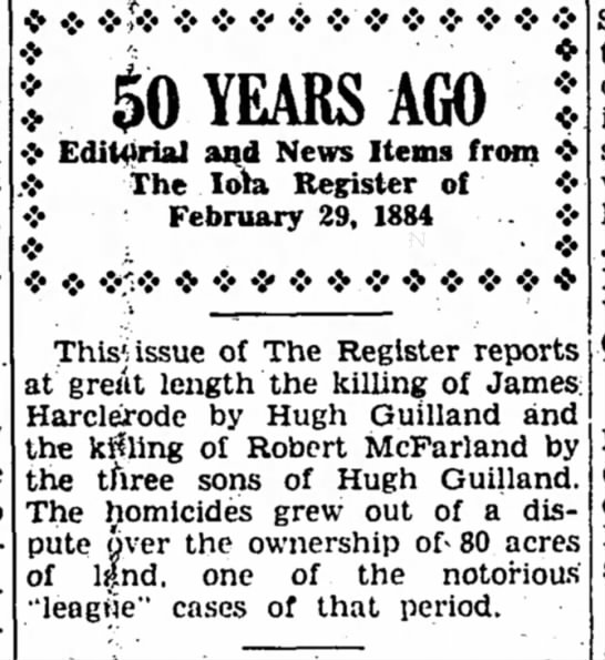 Gilliland Murders 50 Years Later
