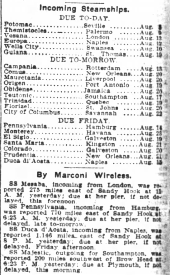 New York Times24 August 1910page 16