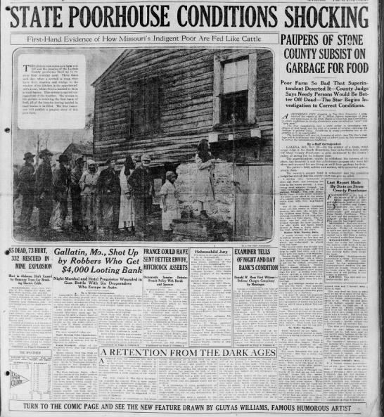 St. Louis newspaper reports on conditions at local poorhouse