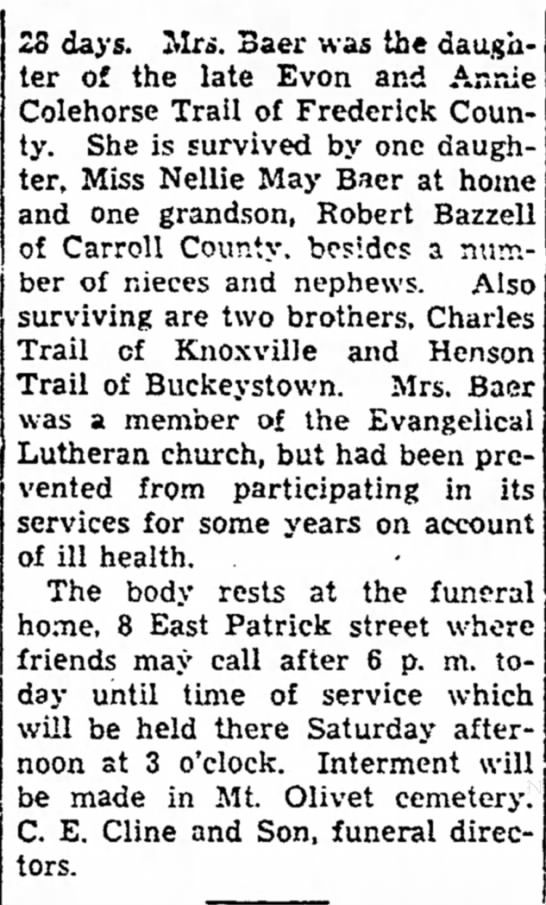 Ida M. Trail pt 2 obituary