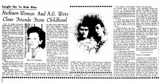 ME and Amelia Earhart article