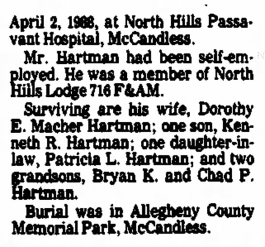 Robert Hartman Obituary 1988 clip 2