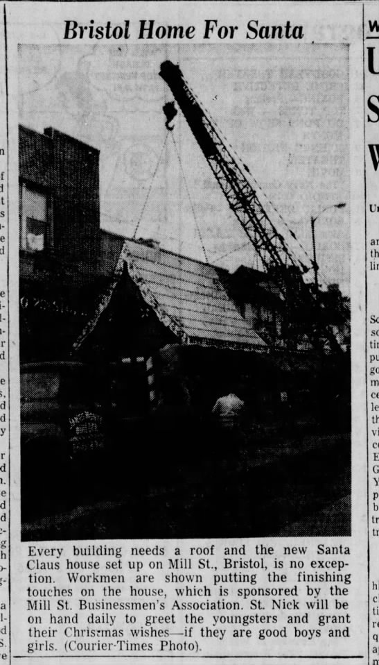 Santa House Mill Street 11.25.1957 Bristol Daily Courier picture