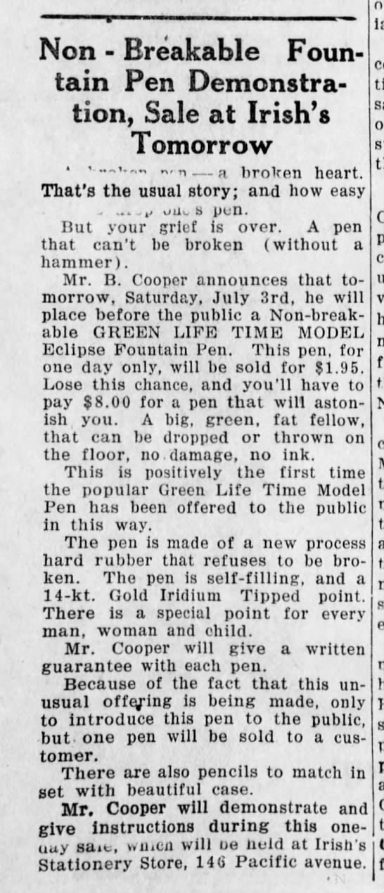 1926 Non-Breakable Eclipse Green Life time z new process hard rubber