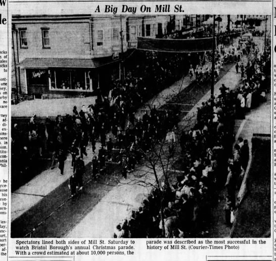 Christmas Parade 12.7.1959 Levittown Times Picture