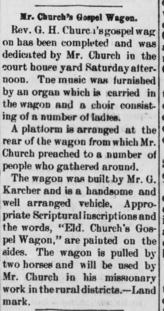 G.H.Church Gopsel Wagon