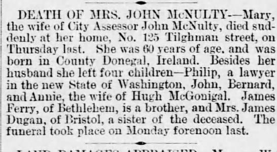 Mary McNulty death notice