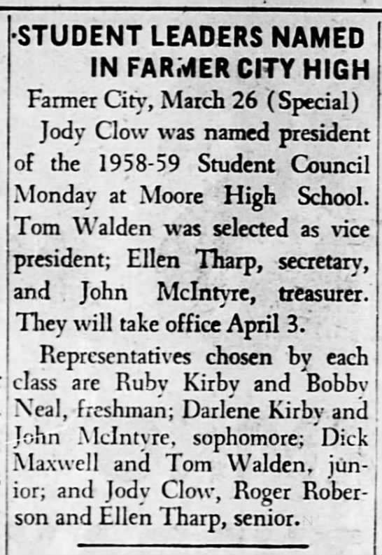 Thomas Edward Walden, The Decatur Herald, Decatur, Illinois, Thursday, March 27, 1958, Page 16