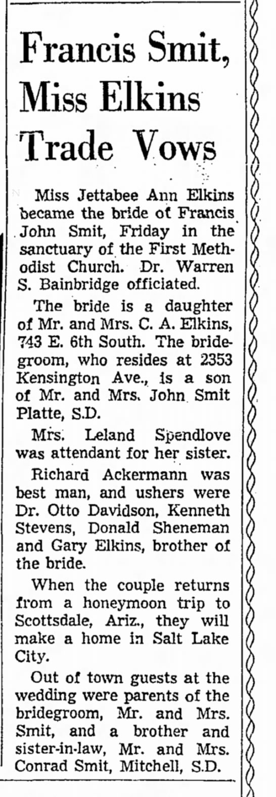 Salt Lake Tribune, 20 Oct 1962