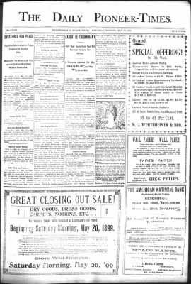 The Daily Deadwood Pioneer-Times from Deadwood, South Dakota on May 20, 1899 · Page 1