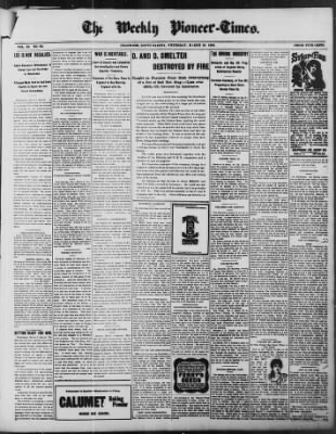 The Weekly Pioneer-Times from Deadwood, South Dakota on March 10, 1898 · Page 1