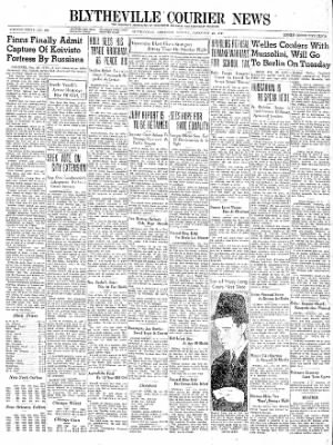 The Courier News from Blytheville, Arkansas on February 26, 1940 · Page 1