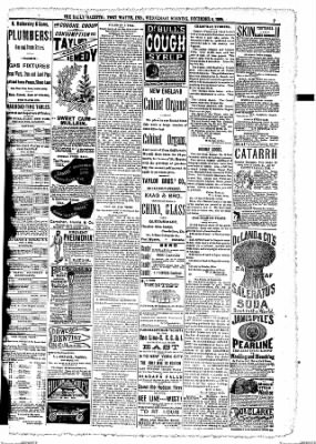 The Daily Gazette from Fort Wayne, Indiana on December 9, 1885 · Page 7