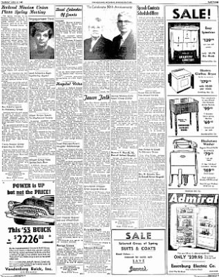 The Holland Evening Sentinel from Holland, Michigan on April 9, 1953 · Page 12