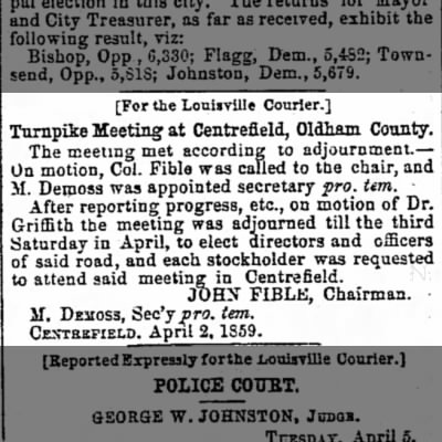 The Louisville Daily Courier 6 April 1859