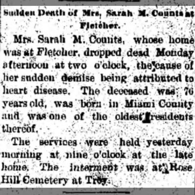 Sarah M Counts