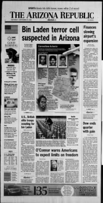 Arizona Republic from Phoenix, Arizona on September 29, 2001 · Page 1