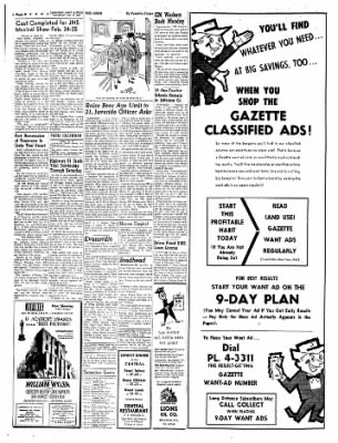 Janesville Daily Gazette from Janesville, Wisconsin on January 21, 1961 · Page 8