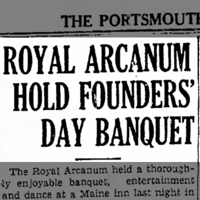 Founders' Day in Portsmouth, 1935.