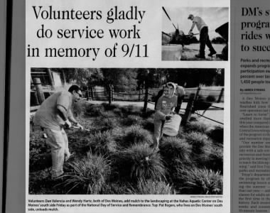 Volunteers gladly do service work in memory of 9/11