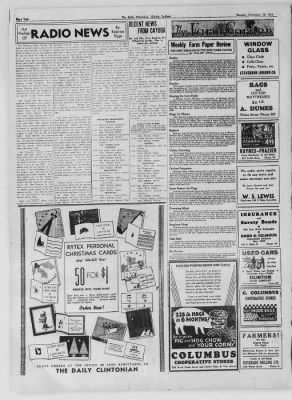 The Daily Clintonian from Clinton, Indiana on November 16, 1936 · Page 2