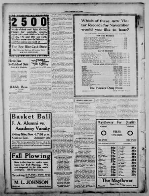 The Fairmount News from Fairmount, Indiana on November 3, 1921 · Page 8