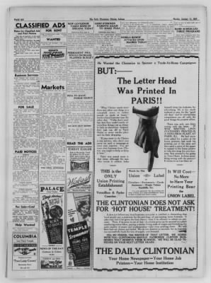 The Daily Clintonian from Clinton, Indiana on January 11, 1937 · Page 6