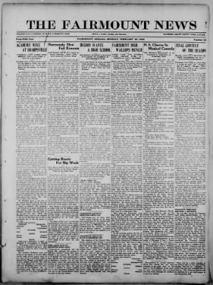 The Fairmount News from Fairmount, Indiana on February 20, 1922 · Page 1