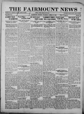 The Fairmount News from Fairmount, Indiana on April 27, 1922 · Page 1