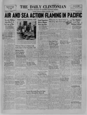 The Daily Clintonian from Clinton, Indiana on January 9, 1945 · Page 1