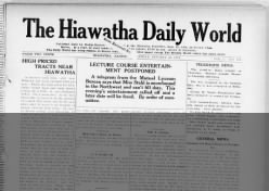 Hiawatha Daily World