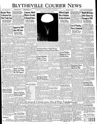 The Courier News from Blytheville, Arkansas on April 18, 1949 · Page 1